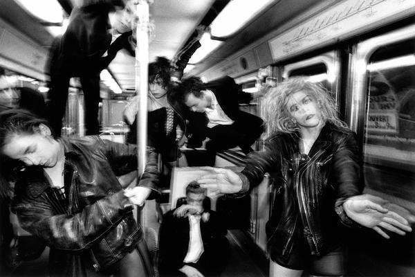 <em>Dance group La La La Human Steps in Metro, </em>Paris<em>,</em> 1991