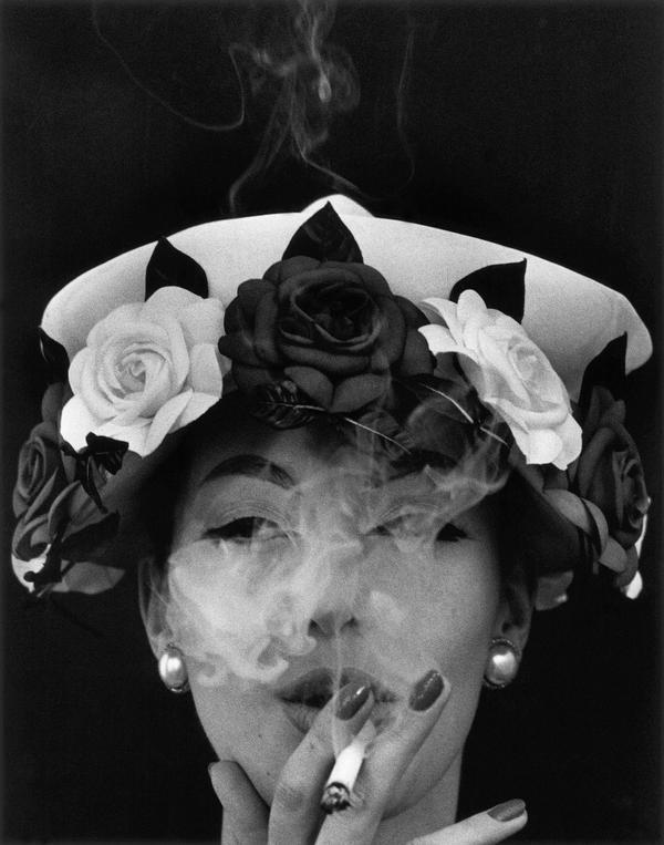 <em>Hat and Five Roses, Paris</em> (Vogue), 1956, cover of book <em>In & Out of Fashion</em>, Paris, 1994