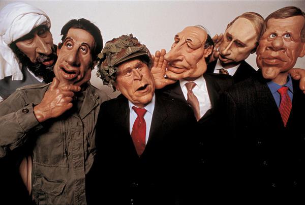 <em>Les Guignols de l'Info</em>, satirical television, Paris, 2002
