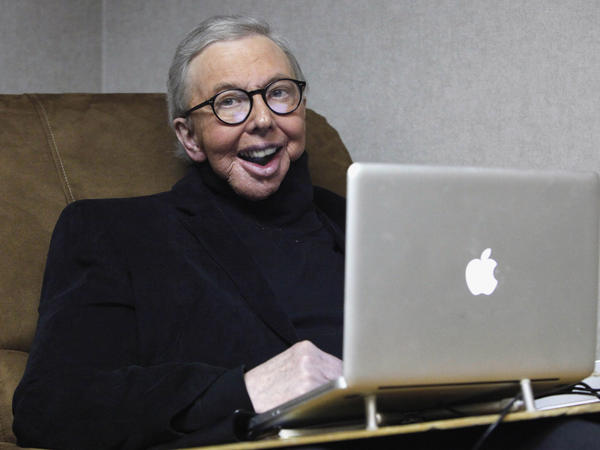 Ebert works in his office at the WTTW-TV studios in Chicago on Jan. 12, 2011.