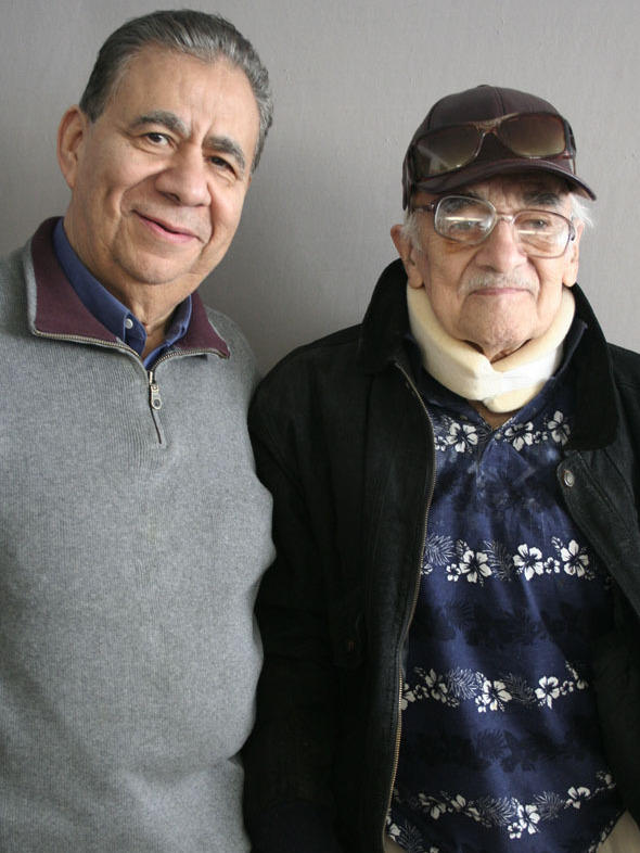 "Ruben Aguilar (right), 85, spoke with his friend Bill Luna, 77, about being deported to Mexico at age 6: ""I grew up when that happened. From 6 years old, all of a sudden I felt like I was 15."""