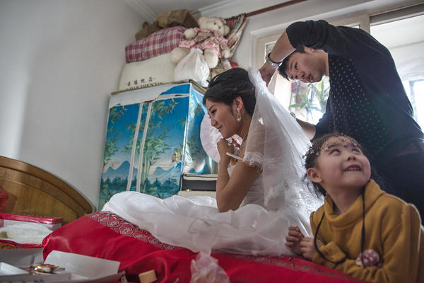 A scarcity of women in China is allowing them to make large financial demands of prospective grooms. In addition to money, grooms are expected to provide an apartment for their new wives.