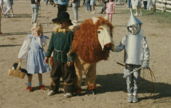 """We were our mother's guinea pigs for the yearly county fair costume class. At the time, we hated it. But to her credit, we won the trophy every time."" — submitted by <a href=""http://equestrianshaming.tumblr.com/"">equestrianshaming</a>"