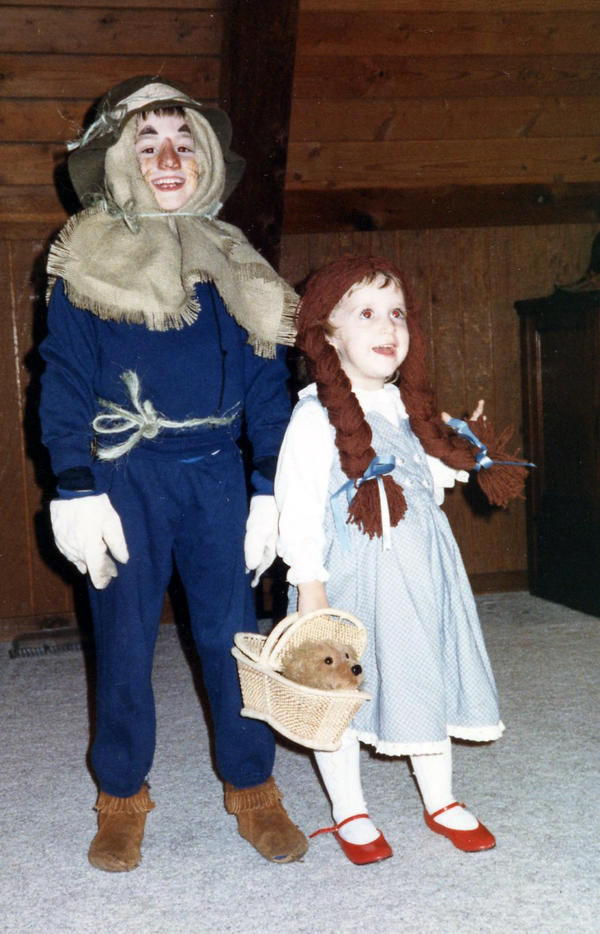 """I was Dorothy every year for Halloween as long as I can remember. This was the year I made my brother join in the fun as well."" — Hannah Kinsley"