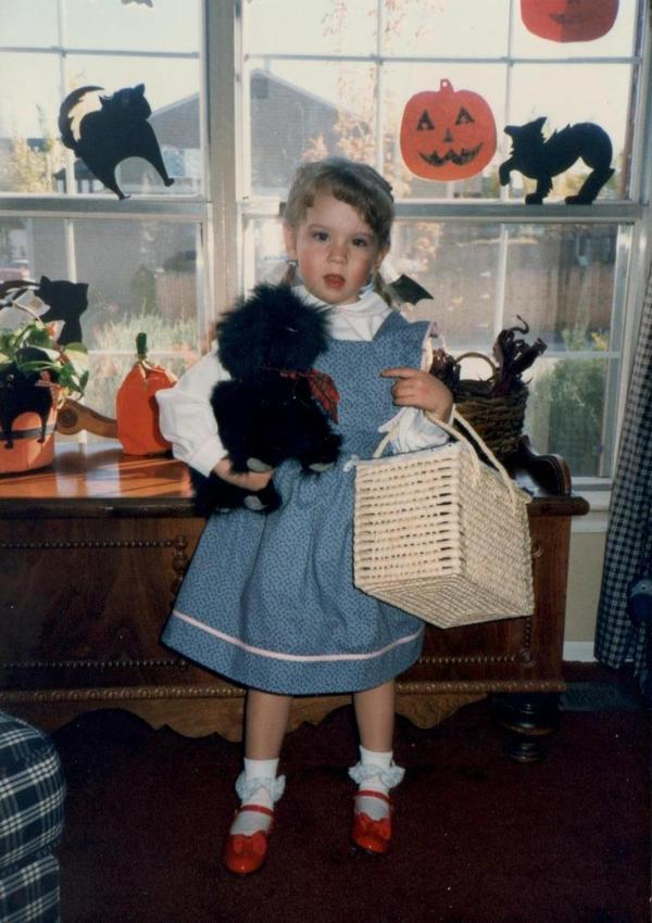 """My mother took great pride and pleasure in designing my elaborate Halloween costumes each year. In 1987, when I was 3 years old, she handmade this adorable Dorothy costume. ... I am now an English teacher, and I keep two copies of the book in my classroom library. It is a timeless classic that captures the heart of the reader, regardless of his or her age."" — Stephanie Moore"
