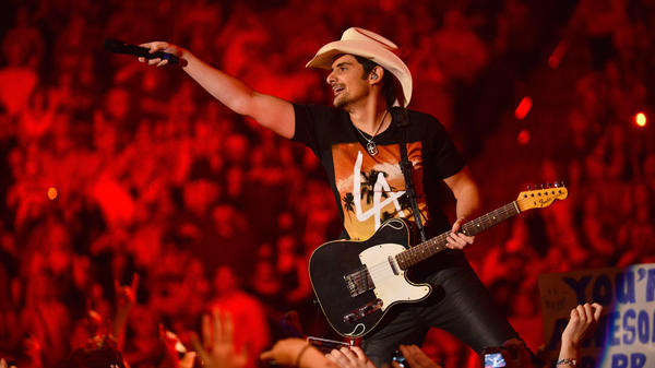 Brad Paisley onstage at the 48th Annual Academy Of Country Music Awards Sunday in Las Vegas.