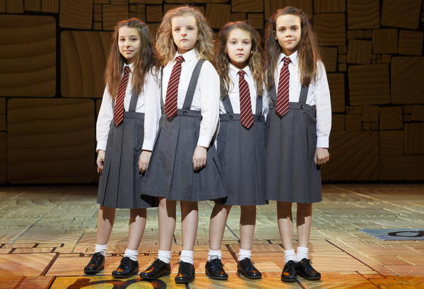 Bailey Ryon, Milly Shapiro, Sophia Gennusa and Oona Laurence share the title role in the show, which got its start as a holiday entertainment at the Royal Shakespeare Company.