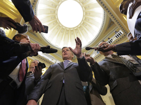 Virginia Gov. Bob McDonnell speaks to the media at the state Capitol in Richmond in February.
