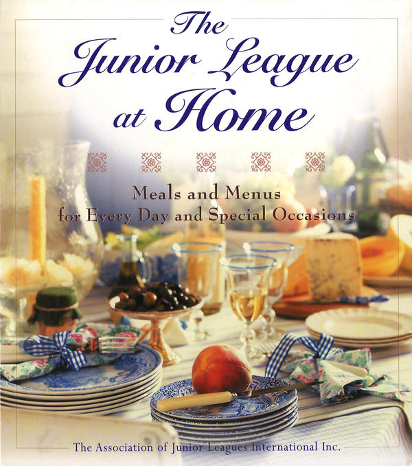 <em>The Junior League at Home</em> includes not only hundreds of recipes, but also 48 menus, entertaining tips and table decorations.