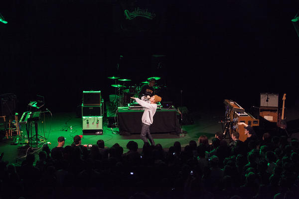 Korean American rap artist, Dumbfoundead performs at the Howard Theatre.