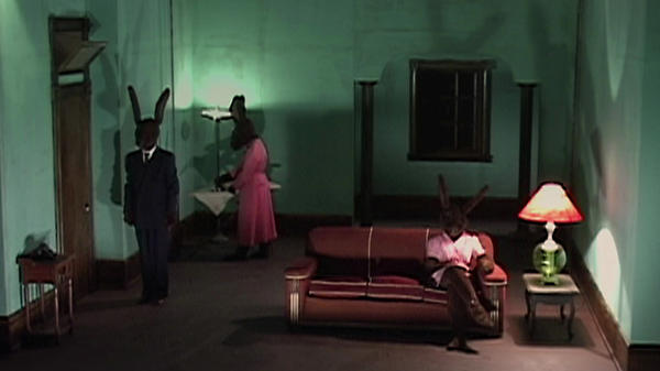 Researchers used a clip from the David Lynch film <em>Rabbits</em> to make volunteers uneasy. Afterward some people got Tylenol, which appeared to help them cope.