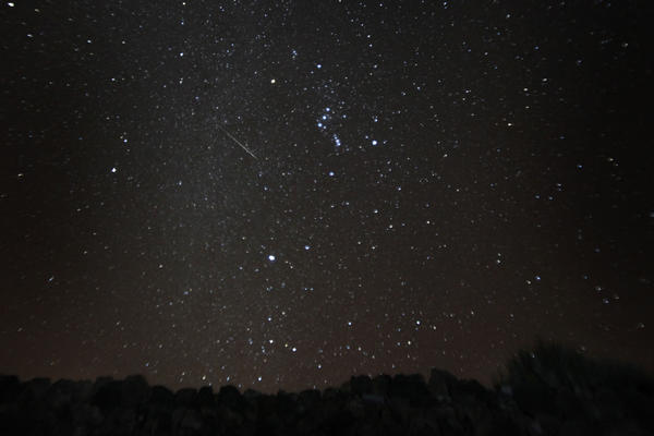 Another meteor shower, the  Geminid, sparkled over the Spanish canary island of Tenerife on Dec. 13, 2012.