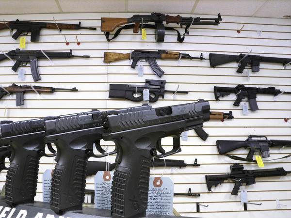 Assault weapons and hand guns for sale.