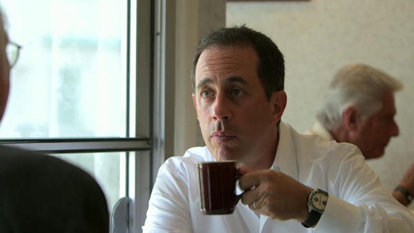 "In an episode of <em>Comedians In Cars Getting Coffee</em> called ""Larry Eats A Pancake,"" Jerry Seinfeld has coffee with Larry David."