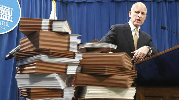 Gov. Jerry Brown in January calls for federal judges to return control of California prisons to the state. This month, a federal appeals court denied Brown's request and ordered the state to reduce its prison population immediately.