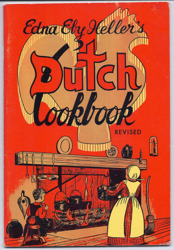 Edna Eby Heller, a native of Lancaster, Pa., helped popularize 20th century Pennsylvania Dutch dishes like chicken and corn soup in five cookbooks. Here, the cover of a 1974 edition of her <em>Dutch Cookbook.</em>