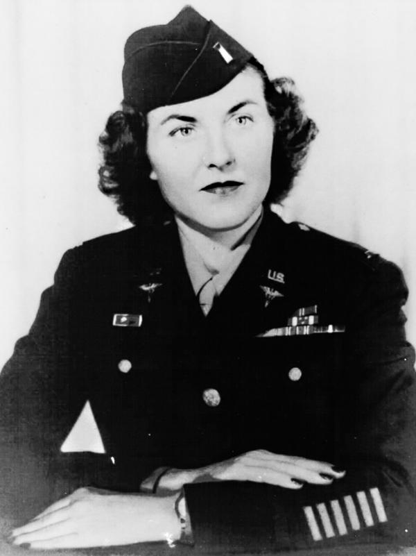 Mildred Manning, then Mildred Dalton, was serving as a U.S. Army nurse in the Philippines when she was taken prisoner by Japanese forces in 1942.