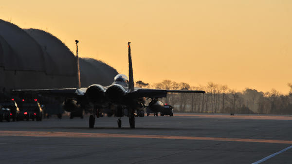 To save money, Seymour Johnson Air Force Base in North Carolina is keeping some of its pilots out of the sky.