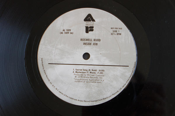 <strong>Arista Records</strong> <br />(<em>Inside Job</em> by Roswell Rudd, 1976)