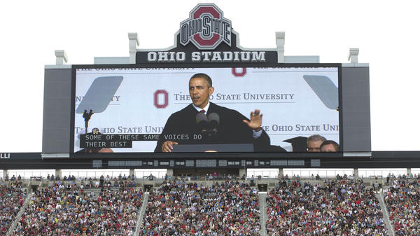 """President Obama's commencement speeches seem to be his real State of the Union addresses. On May 5, he told Ohio State students that they were graduating into a """"healing"""" economy."""
