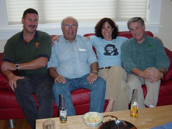 Author Carol Shaben marks the crash's 20-year anniversary with three of its survivors (from left): Erik Vogel, Larry Shaben and Scott Deschamps.