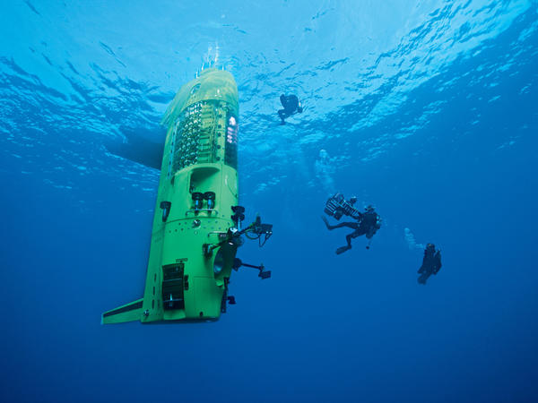 At 24 feet long, the submersible vehicle the Deepsea Challenger was designed to descend faster than more rotund submersibles.