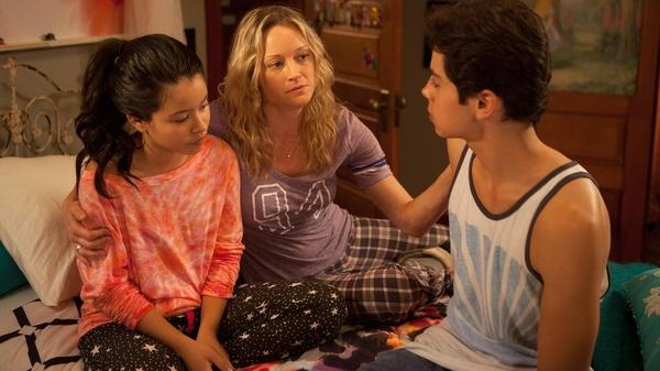 Cierra Ramirez, Teri Polo, and Jake T. Austin star in ABC Family's <em>The Fosters</em>.