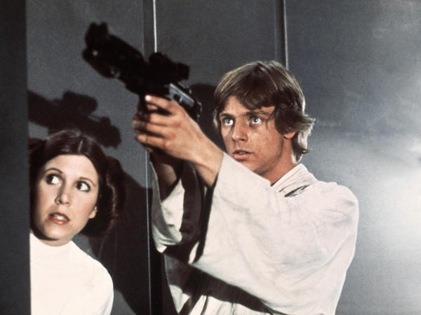 <em>Star Wars</em> has been translated into many languages — most recently, Navajo. Above, Princess Leia (Carrie Fisher) and Luke Skywalker (Mark Hamill) in a scene from the 1977 classic.