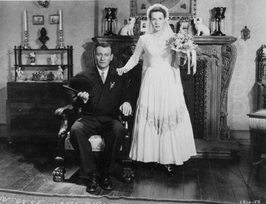 Actors John Wayne and Maureen O'Hara in John Ford's <em>The Quiet Man</em>.