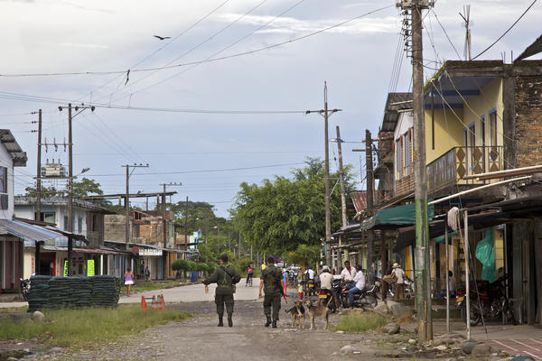 First guerrillas, then paramilitaries and now police control the village of El Pacer.