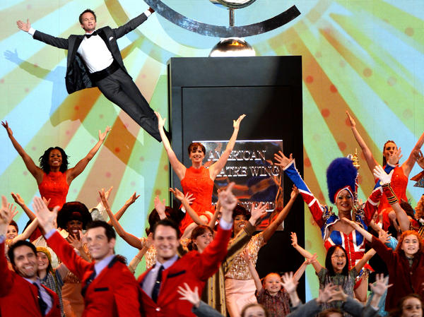 NEW YORK, NY - JUNE 09: Host Neil Patrick Harris and casts of Broadway shows perform onstage at The 67th Annual Tony Awards at Radio City Music Hall on June 9, 2013 in New York City. (Photo by Andrew H. Walker/Getty Images for Tony Awards Productions)