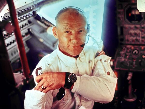 "Edwin ""Buzz"" Aldrin, during the Apollo 11 mission to the moon."