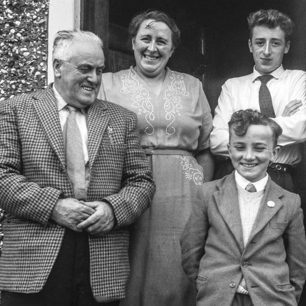 Bobbie (upper right) with his family in Northern Ireland.