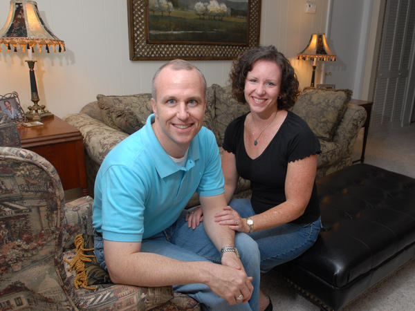Alan Chambers, president of Exodus International, with his wife, Leslie, in a May 2006 photo.