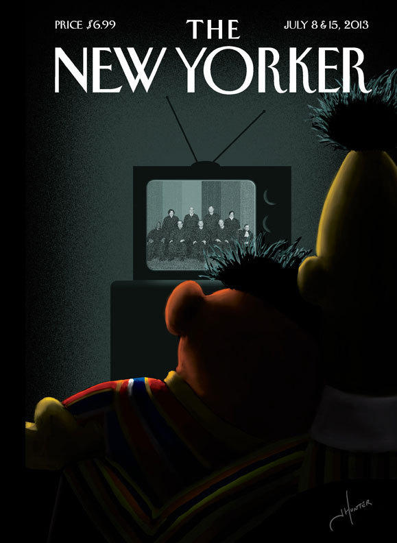 <em>The New Yorker</em>'s July 8 and 15th cover.