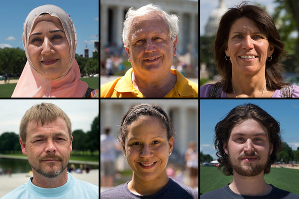 Row 1: Maryam Saif, Austin, Texas; Michael Dubberly, Savannah, Ga.; Nadine Pourier-Blumenshine, Fresno, Calif. Row 2: Timothy Jon Eaton, Kingsport, Tenn.; Kara Milton, Greensboro, N.C.; Thomas Horsley, Boston.