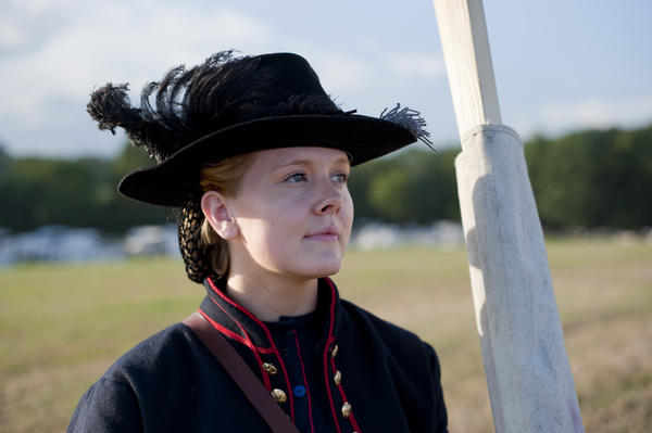 Meghan Halley, of Ohio, served as a vivandiere, or canteen keeper. Her father, brothers and husband also participated in the re-enactment.