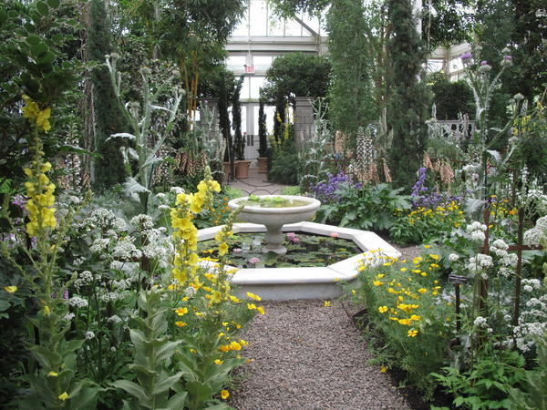 The Italian Renaissance Garden in New York's botanical gardens is inspired by the garden in Padua, Italy, created in 1545.