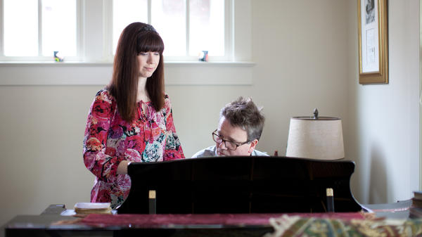 "Modern hymn writers Kristyn and Keith Getty run through their song ""In Christ Alone"" at their home near Nashville's Music Row."
