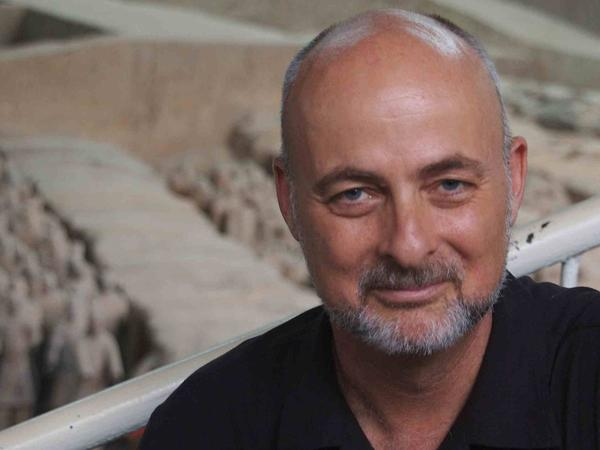Physicist and writer David Brin, in Xian, China.