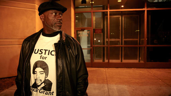 "Cephus ""Bobby"" Johnson in 2011, when the former transit officer who shot Johnson's nephew, Oscar Grant, was released from jail. Johnson and other family members have seen <em>Fruitvale Station</em>, a new feature film depicting the shooting, multiple times."