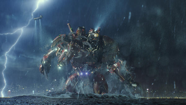 The Jaegers of del Toro's <em>Pacific Rim</em> are inspired by the <em>mecha</em> tradition in Japanese cinema.
