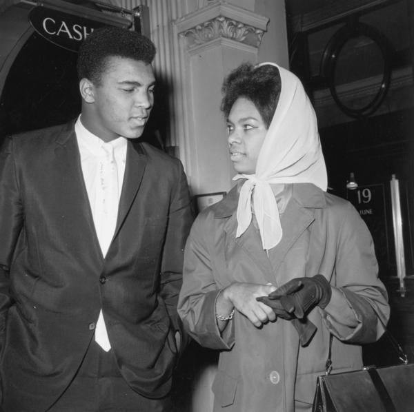Clay with his first wife, Sonji Roi, on June 21, 1963. He married three more times.