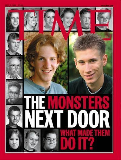 <em>Time</em>'s cover on the Columbine shooters.