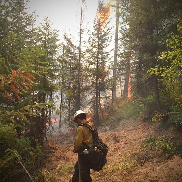 """""""As smoke hindered my breathing and sweat entered my eyes, I pulled my iPhone from my left chest pocket to make an attempt at capturing the fire making a push towards the line. The humidity was so high, my thumb couldn't slide the camera open ... It was time to stash the phone and move."""""""