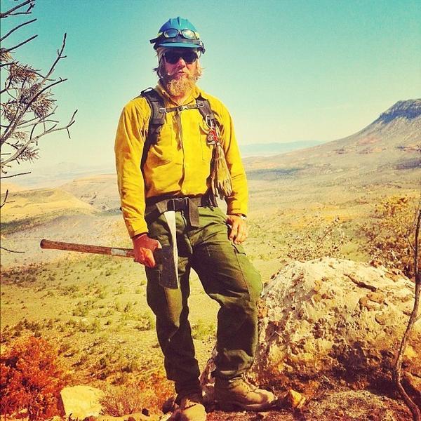 Wildland firefighter and photographer Gregg Boydston in Arizona.