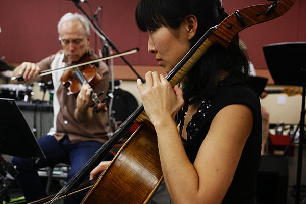 Violist Hank Dutt, who joined Kronos in 1977, plays alongside the quartet's newest member, Sunny Jungin Yang, who came onboard in June.