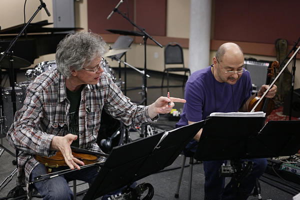 David Harrington, the Kronos Quartet's first violinist, founded the group 40 years ago. Second violinist John Sherba has been part of the foursome since 1978.