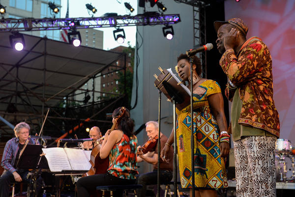"Fela Kuti's ""Sorrow, Tears and Blood"" performed by the Kronos Quartet and the vibrant Abena Koomson and Sahr Ngaujah."