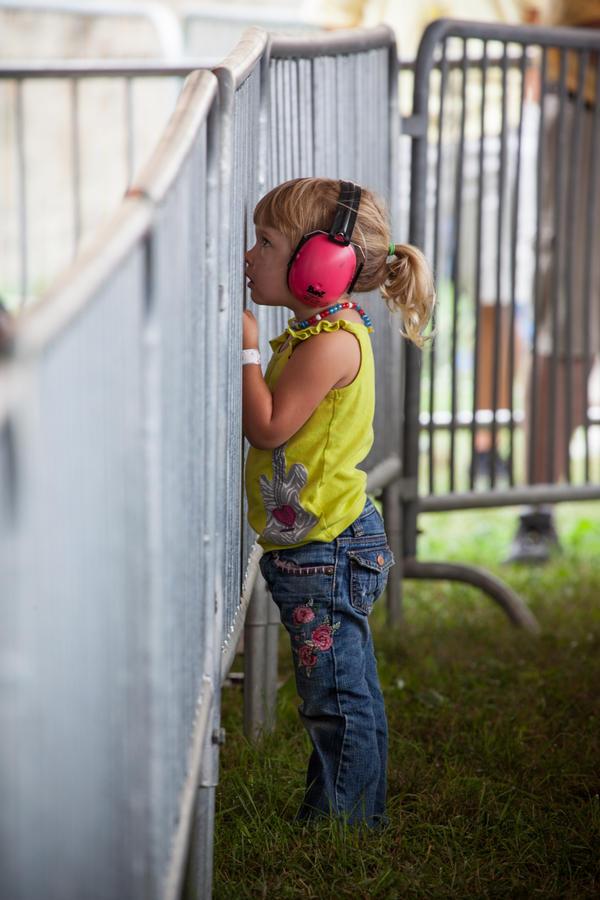 Keep those ears safe, kid!